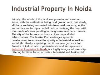 Industrial Plots In Noida| 9910007749|Industrial Properties