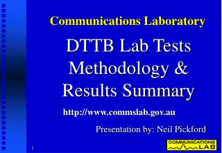 DTTB Lab Tests Methodology &  Results Summary