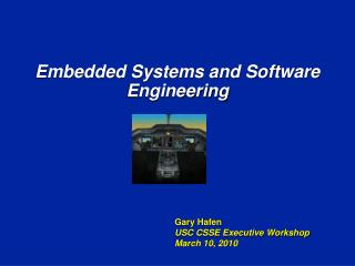 Embedded Systems and Software Engineering