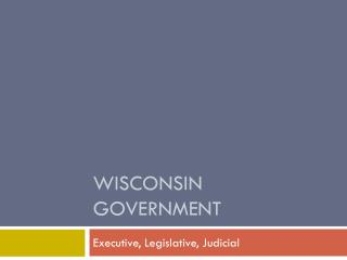 Wisconsin Government