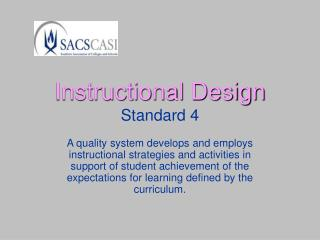 Instructional Design Standard 4