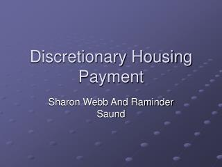 Discretionary Housing Payment