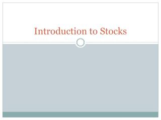 Introduction to Stocks