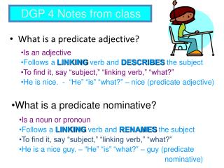 What is a predicate adjective?