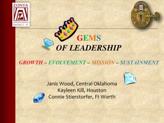 G E M S OF LEADERSHIP GROWTH  –  EVOLVEMENT  –  MISSION  –  SUSTAINMENT
