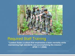 Required Staff Training