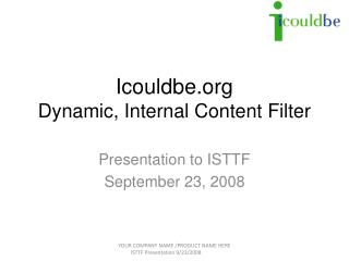 Icouldbe Dynamic, Internal Content Filter
