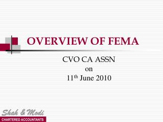 OVERVIEW OF FEMA