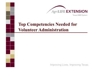 Top Competencies Needed for Volunteer Administration