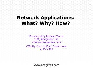 Network Applications: What? Why? How?