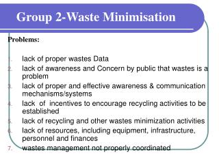 Group 2-Waste Minimisation