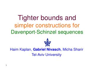 Tighter bounds and simpler constructions for Davenport-Schinzel sequences