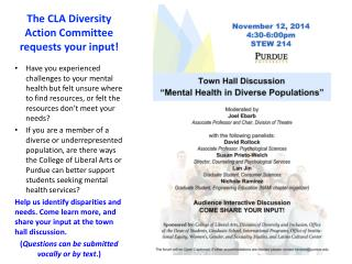 The CLA Diversity Action Committee requests your input!