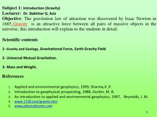 Gravity & Magnetic