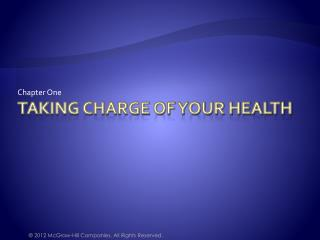 Taking Charge of Your Health