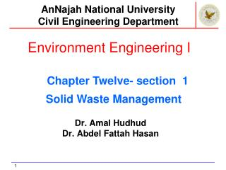 Environment Engineering I