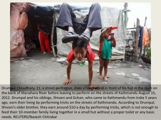 Nepal's young street performers