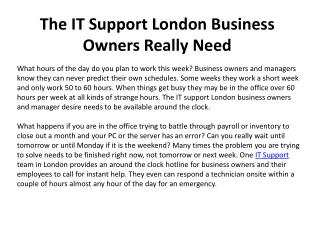 London IT Support Services - Professional IT Support in Lond