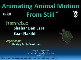 Animating Animal Motion From Still