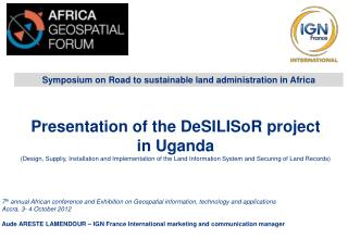 Symposium on Road to sustainable land administration in Africa