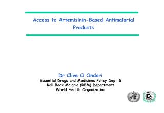 Access to Artemisinin-Based Antimalarial Products
