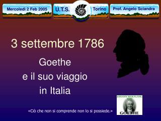 3 settembre 1786
