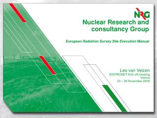 Nuclear Research and consultancy Group European Radiation Survey Site Execution Manual