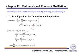 Chapter 12.  Multimode and Transient Oscillation