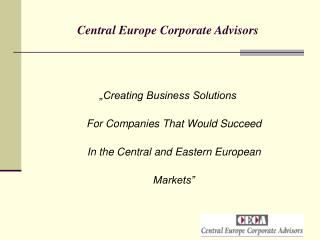 Central Europe Corporate Advisors