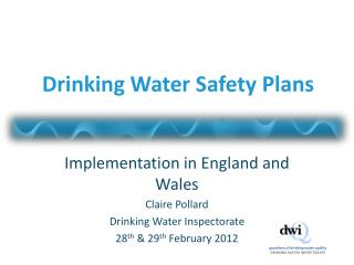 Drinking Water Safety Plans