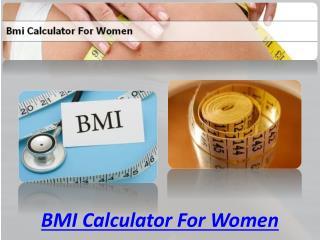 BMI Calculator For Women