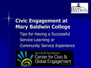 Civic Engagement at  Mary Baldwin College