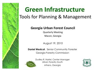 Green Infrastructure  Tools for Planning & Management