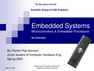 Embedded Systems Microcontrollers & Embedded Processors An Overview