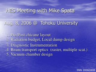 HES Meeting with Mike Spata
