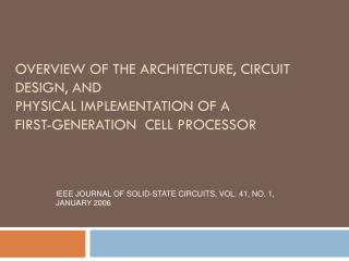 IEEE JOURNAL OF SOLID-STATE CIRCUITS, VOL. 41, NO. 1, JANUARY 2006