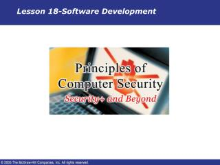 Lesson 18-Software Development