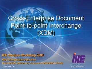 Cross-Enterprise Document Point-to-point Interchange (XDM)