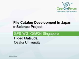File Catalog Development in Japan e-Science Project