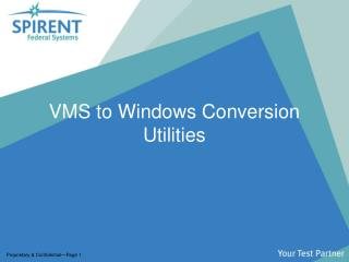 VMS to Windows Conversion Utilities