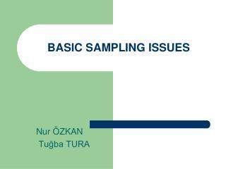 BASIC SAMPLING ISSUES