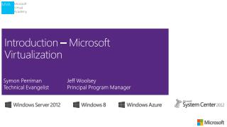 Introduction – Microsoft Virtualization