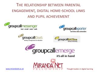 The relationship between parental engagement, digital home-school links and pupil achievement
