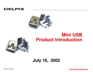 Mini USB  Product Introduction