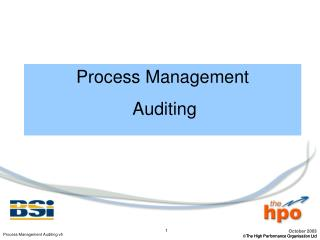 Process Management  Auditing