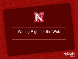 Writing Right for the Web