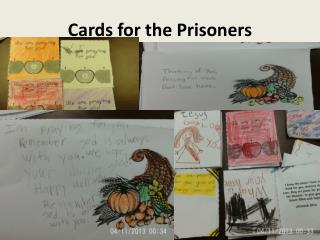 Cards for the Prisoners