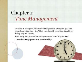 Chapter 1:  Time Management