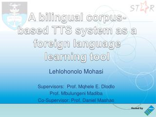 A bilingual corpus-based TTS system as a foreign language learning tool