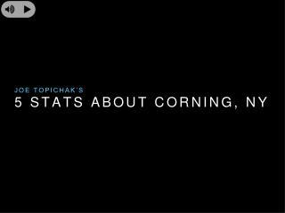 Joe Topichak's top 5 stats about Corning